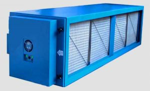Electrostatic air cleaner /scrubber for dry type kitchen exhaust