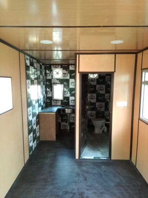 Porta cabin for security, store, machine rooms, site office