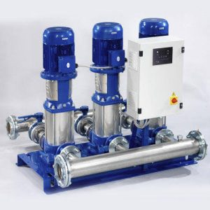 Water booster pump system, controller for industrial, commercial applications